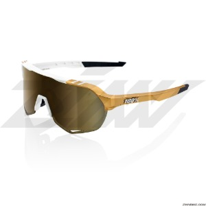 100% S2 Long Cycling Goggles (Peter Sagan LE White Gold/Soft Gold Mirror Lens) 61003-464-69