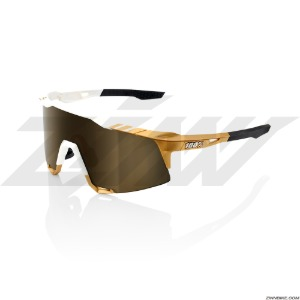 100% SPEEDCRAFT Long Cycling Goggles (Peter Sagan LE White Gold/oft Gold Mirror Lens) 61001-464-69