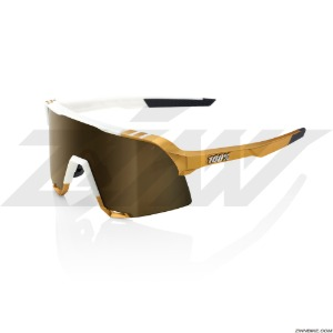 100% S3 Long Cycling Goggles (Peter Sagan LE White Gold/Soft Gold Mirror Lens) 61034-464-69