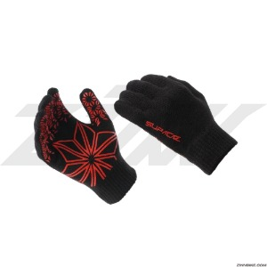 SUPACAZ Knit Cycling Gloves (Black&Red/KG-02)